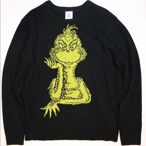 Grinch sweater men's Large